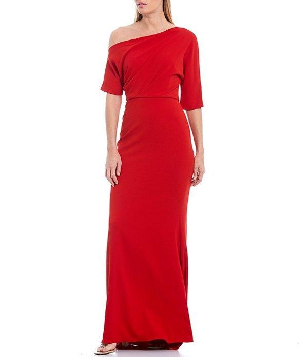 バッジェリーミシュカ レディース ワンピース トップス One Shoulder Odessa Crepe Gown Red
