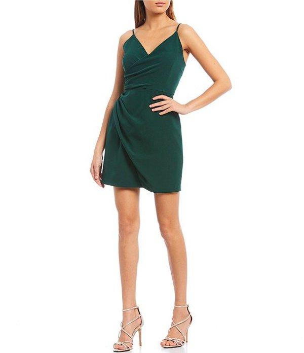 ジャンビニ レディース ワンピース トップス Natalie Wrap Crepe Dress Evergreen