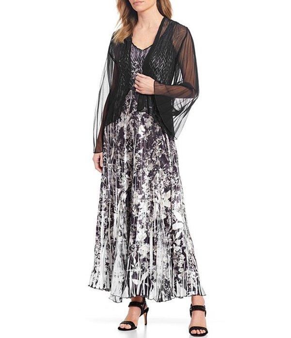 コマロフ レディース ワンピース トップス Floral Print V-Neck Jacket Dress Shadow Garden