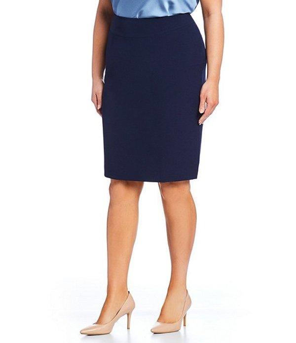 タハリエーエスエル レディース スカート ボトムス Plus Size Solid Pencil Skirt Navy