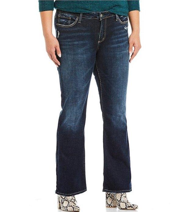 シルバー ジーンズ レディース デニムパンツ ボトムス Plus Size Elyse Slim Dark Wash Bootcut Jeans Indigo
