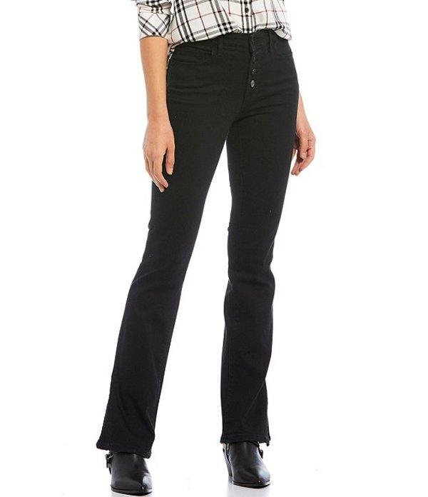 サンクチュアリー レディース デニムパンツ ボトムス Denim Mid Rise Side Slit Demi Bootcut Jeans Jet
