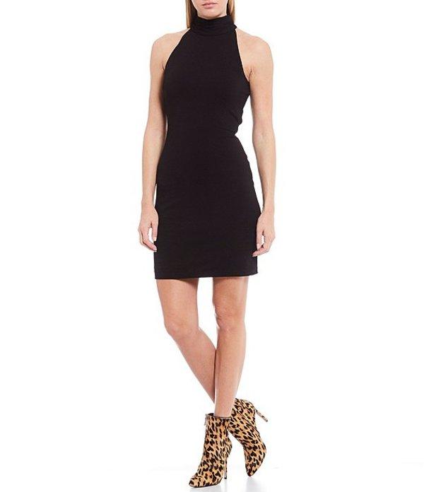 ワンステート レディース ワンピース トップス Mock Neck Sleeveless Bodycon Dress Rich Black