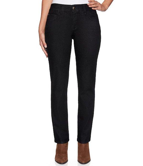 ルビーアールディー レディース デニムパンツ ボトムス Petite Size Super Soft Stretch Denim Straight Leg Pants Black
