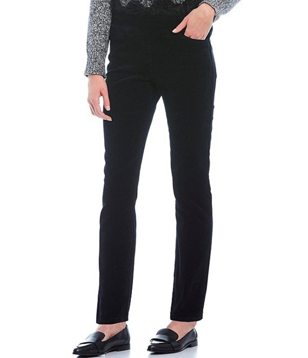 ウエストバウンド レディース カジュアルパンツ ボトムス the PARK AVE fit Corduroy Slim Leg Pants Black