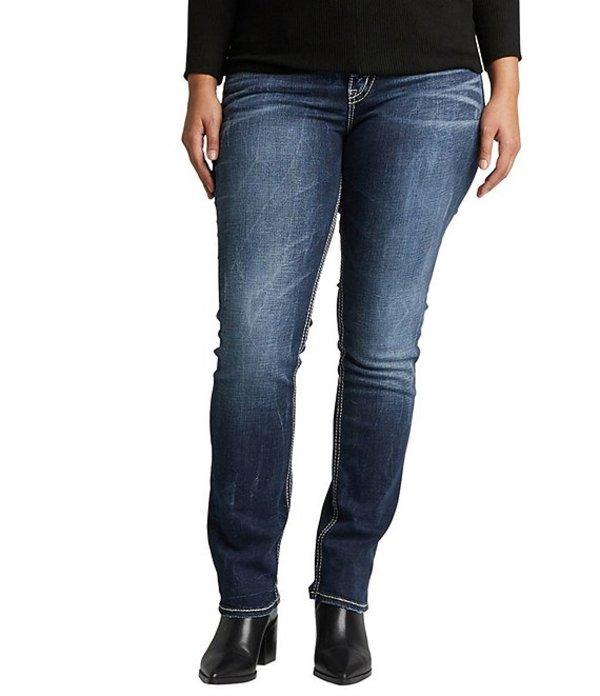 シルバー ジーンズ レディース デニムパンツ ボトムス Plus Size Suki Mid Rise Straight Leg Jeans Indigo