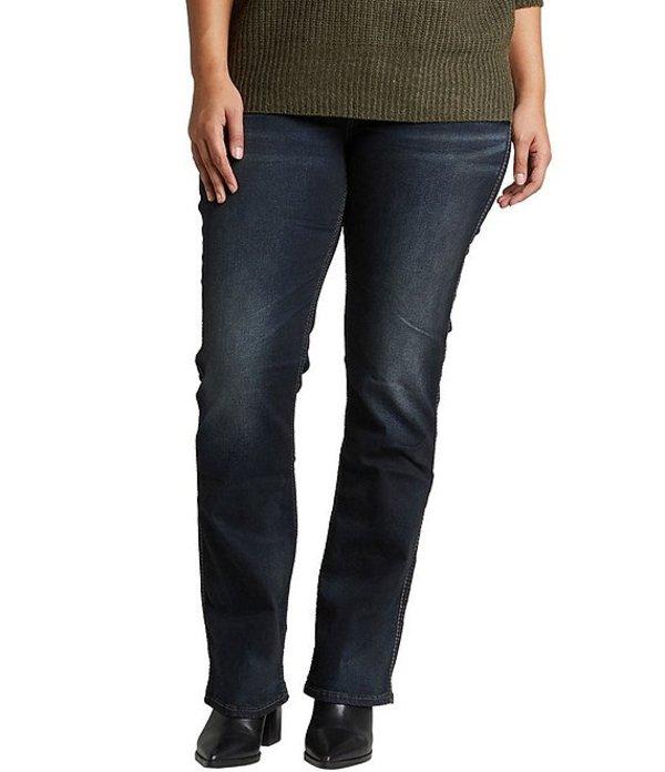 シルバー ジーンズ レディース デニムパンツ ボトムス Plus Size Suki Mid Rise Slim Bootcut Jeans Indigo