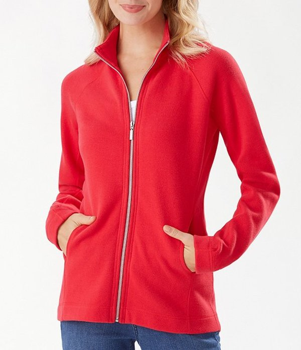 トッミーバハマ レディース ジャケット・ブルゾン アウター The New Aruba Full-Zip Sweatshirt Blitz Red