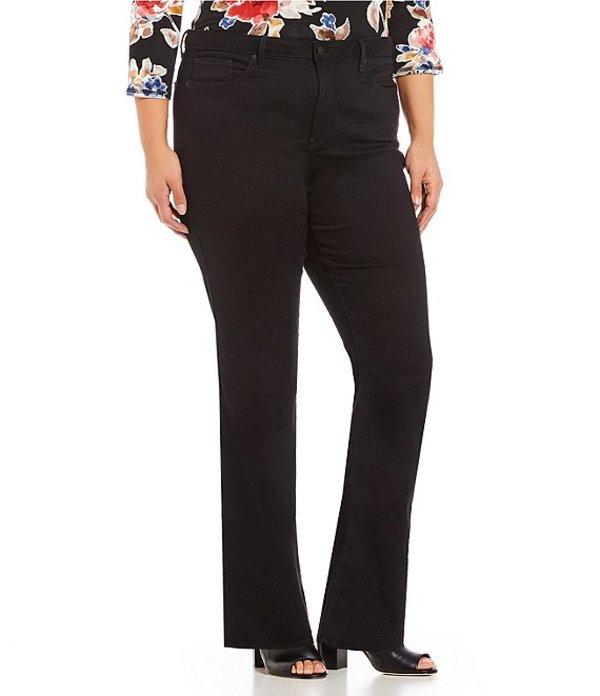 エヌワイディージェイ レディース デニムパンツ ボトムス Plus Size Barbara Bootcut Jeans Black