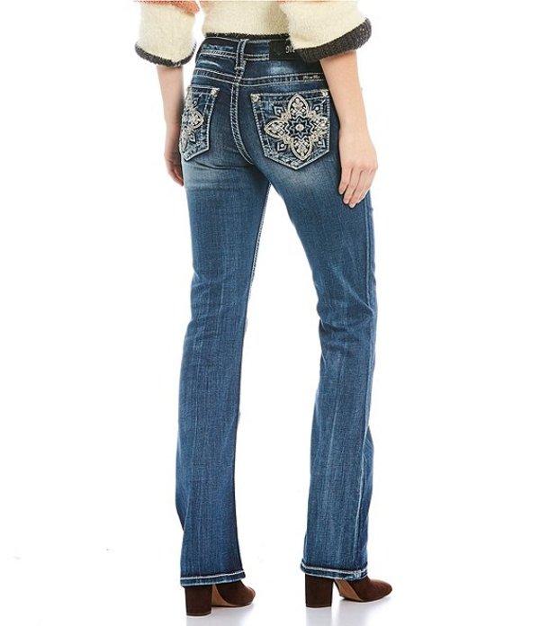 ミスミー レディース デニムパンツ ボトムス Moroccan Cross Pocket Bootcut Jeans Dark Blue