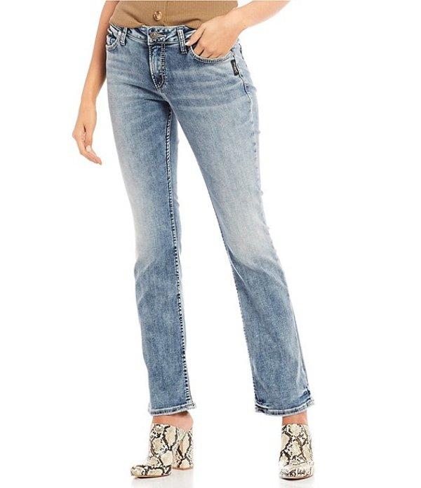 シルバー ジーンズ レディース デニムパンツ ボトムス Elyse Mid Rise Slim Bootcut Jeans Indigo