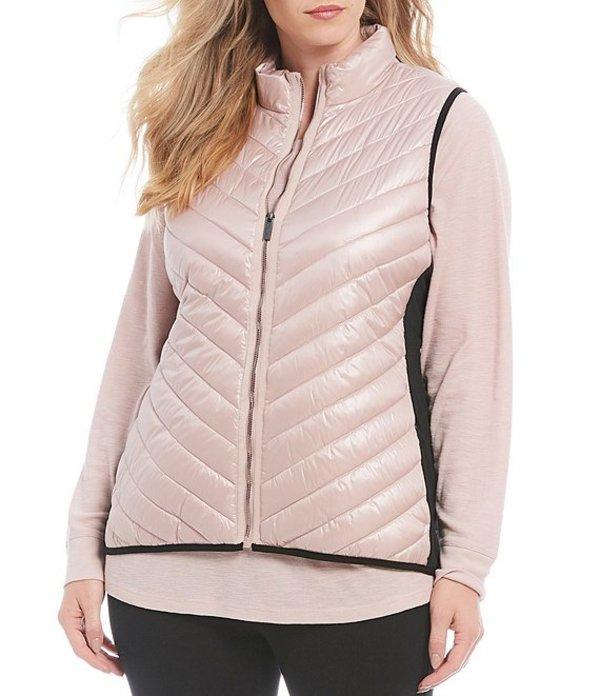 カルバンクライン レディース ベスト アウター Plus Size Performance Puffer Vest Metallic Bare