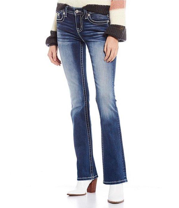 ミスミー レディース デニムパンツ ボトムス Embellished Wing Flap Pocket Bootcut Jeans Blue