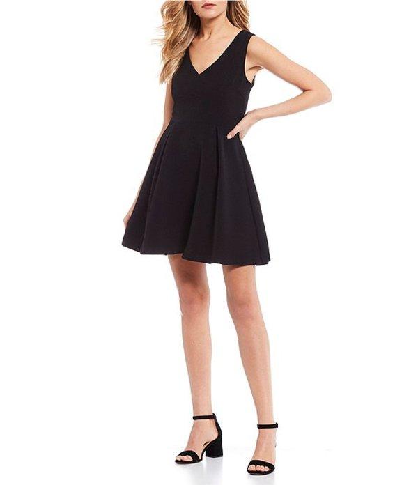 ジービー レディース ワンピース トップス V-Neck Swing Dress Black