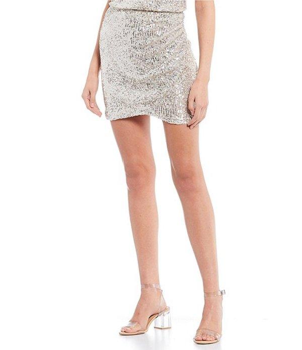 ジービー レディース スカート ボトムス Coordinating Sequin Wrap Skirt Silver