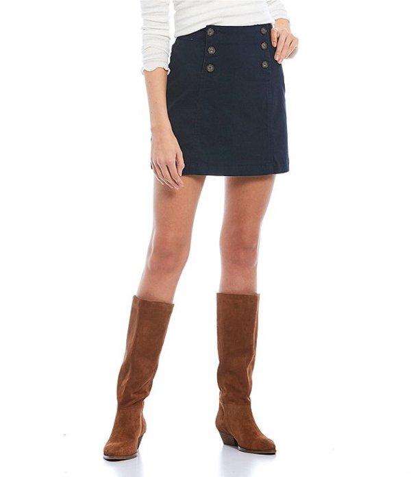 カッパーキー レディース スカート ボトムス Button Front Mini Skirt Navy Dark