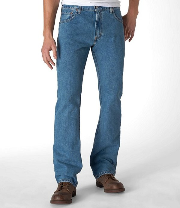 リーバイス メンズ デニムパンツ ボトムス Levi'sR 517 Bootcut Jeans Medium Stonewash
