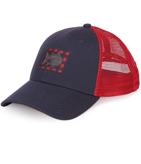 送料無料 サイズ交換無料 サウザーンタイド メンズ アクセサリー 帽子 Navy サウザーンタイド メンズ 帽子 アクセサリー Donner Gingham Fly Patch Trucker Hat Navy