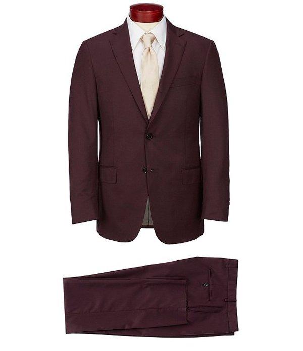 ハート シャフナー マルクス メンズ ジャケット・ブルゾン アウター Modern Fit Solid Wool Blend Suit Burgundy