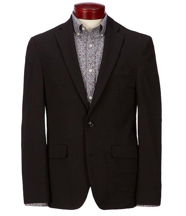ハワード メンズ ジャケット・ブルゾン アウター Solid Suit Separates Knit Blazer Black