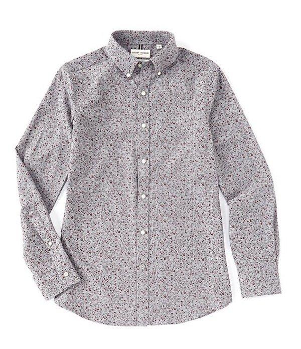 ハワード メンズ シャツ トップス Crosby Floral Herringbone Sportshirt Grey