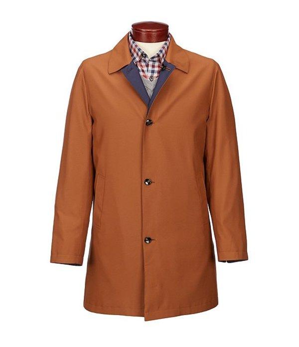 ムラノ メンズ ジャケット・ブルゾン アウター Slim-Fit Reversible Mac Jacket Khaki