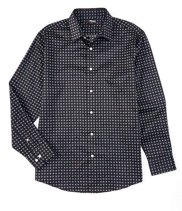 ムラノ メンズ シャツ トップス Big & Tall Liquid Luxury Eclipse Print Long-Sleeve Woven Shirt Black
