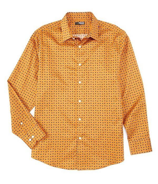 ムラノ メンズ シャツ トップス Big & Tall Liquid Luxury Eclipse Print Long-Sleeve Woven Shirt Rust