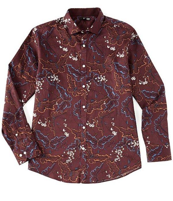 ムラノ メンズ シャツ トップス Big & Tall Liquid Luxury Long-Sleeve Woven Shirt Burgundy