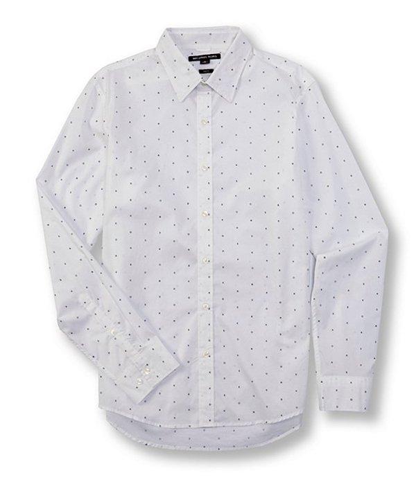 マイケルコース メンズ シャツ トップス Slim-Fit Stretch Long-Sleeve Woven Shirt Twilight Blue