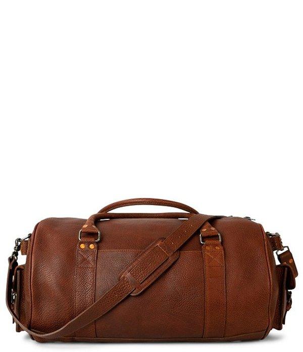 バッファロージョンソン メンズ ボストンバッグ バッグ Ryder Reserve Bison Leather Duffel Bag Brown