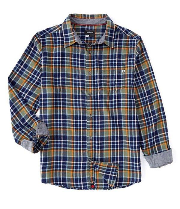 マーモット メンズ シャツ トップス Fairfax Flannel Plaid Long-Sleeve Woven Shirt Crocodile