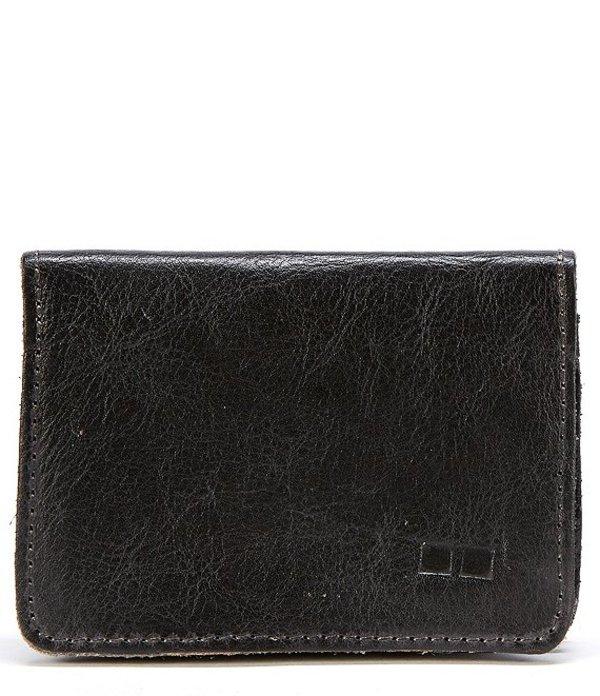 ベッドステュ メンズ 財布 アクセサリー Men's Jeor Card Holder Leather Fold Wallet Black Rustic