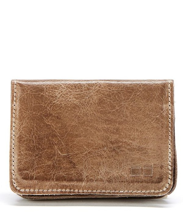 ベッドステュ メンズ 財布 アクセサリー Men's Jeor Card Holder Leather Fold Wallet Taupe Rustic