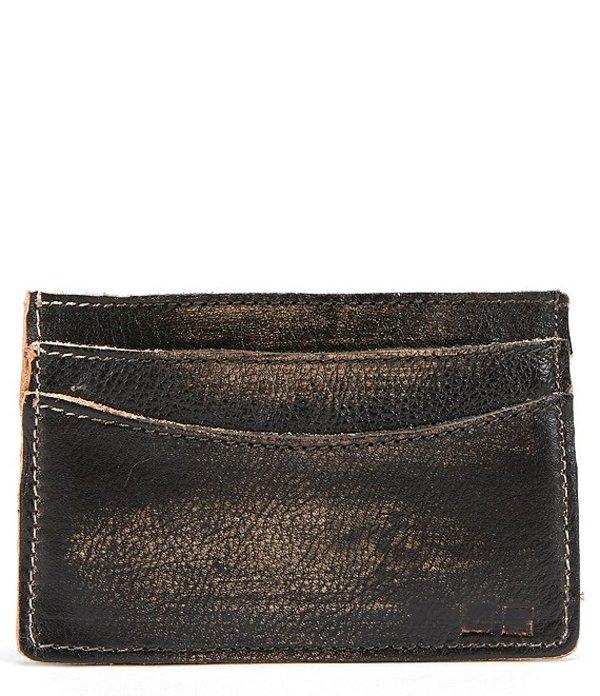 ベッドステュ メンズ 財布 アクセサリー Men's Chuck Leather Card Wallet Black Hand Wash