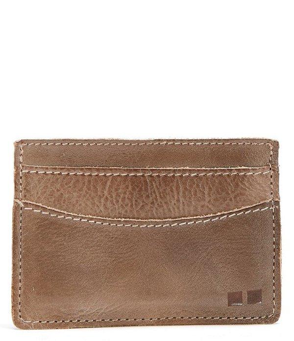 ベッドステュ メンズ 財布 アクセサリー Men's Chuck Leather Card Wallet Taupe Rustic