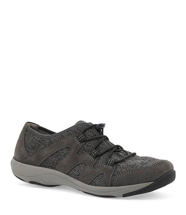 ダンスコ レディース ドレスシューズ シューズ Holland Suede and Mesh Bungee Lace Up Sneakers Charcoal Suede