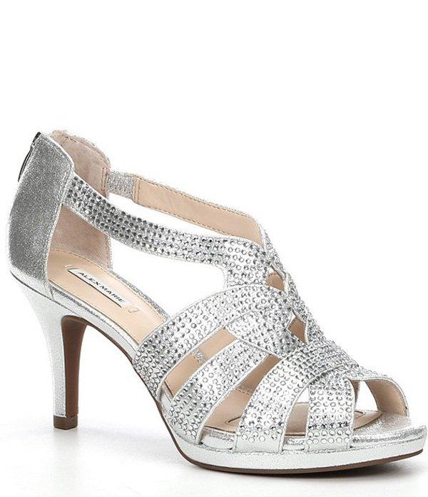 アレックスマリー レディース サンダル シューズ Leeanne Hotfix Dress Platform Sandals Silver