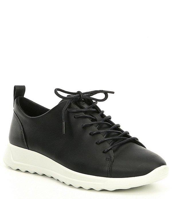 エコー レディース ドレスシューズ シューズ Womens Flexure Runner Tie Sneakers Black