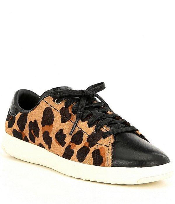 コールハーン レディース ドレスシューズ シューズ Grandpro Leopard Print Tennis Sneakers Natural Jaguar/Black/Optic White