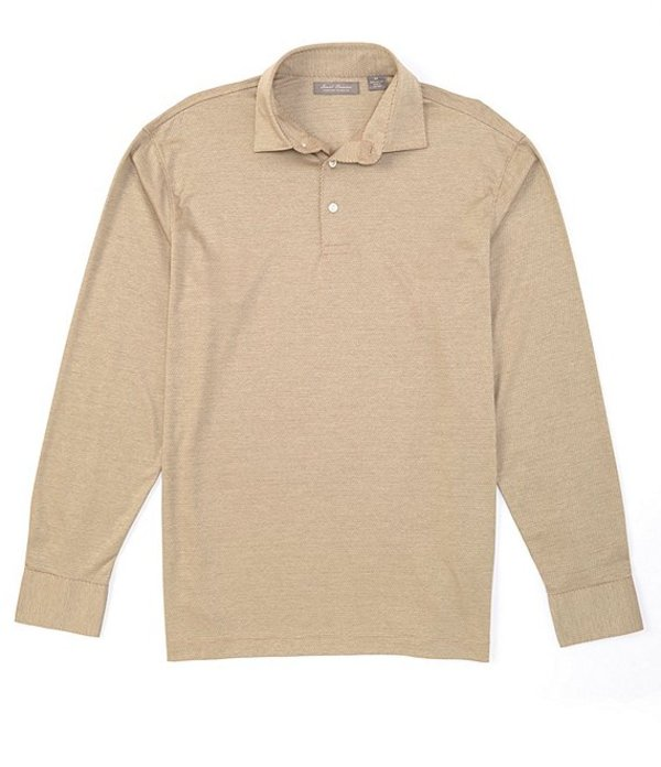 ダニエル クレミュ メンズ シャツ トップス Daniel Cremieux Signature Solid Jacquard Long-Sleeve Polo Shirt String