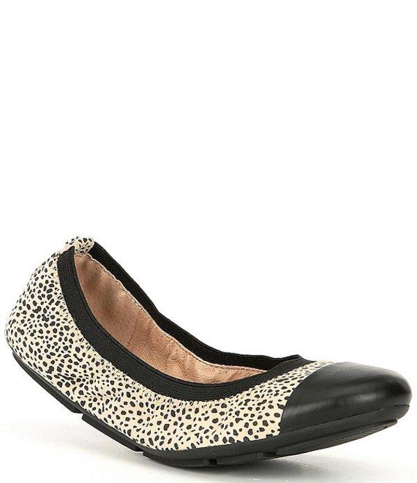 アレックスマリー レディース パンプス シューズ Hayzen Cheetah Print Leather Toe-Cap Ballet Flats Bleached Neutral