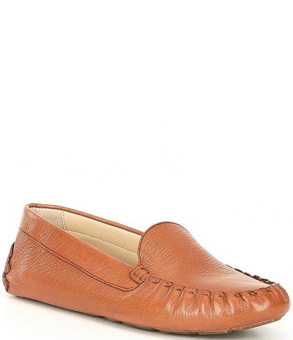 コールハーン レディース スリッポン・ローファー シューズ Evelyn Leather Driver Loafers Pecan Leather