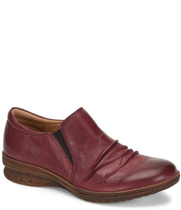 コンフォーティバ レディース パンプス シューズ Florian Ruched Leather Slip Ons Red