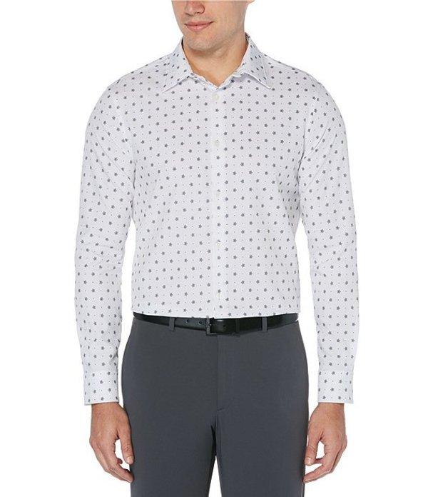 ペリーエリス メンズ シャツ トップス Snowy Dreams Print Stretch Long-Sleeve Woven Shirt Black