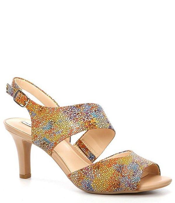 アレックスマリー レディース サンダル シューズ Mekela Multi Leather Asymmetrical Peep Toe Dress Sandals Multi
