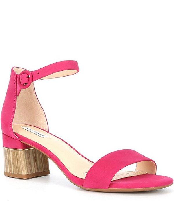 アレックスマリー レディース サンダル シューズ Deltan Suede Block Heel Sandals Geranium
