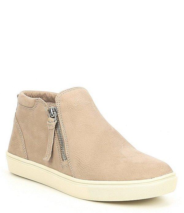 ジービー レディース ドレスシューズ シューズ Ground-Break Double Zip Leather Sneakers Brown