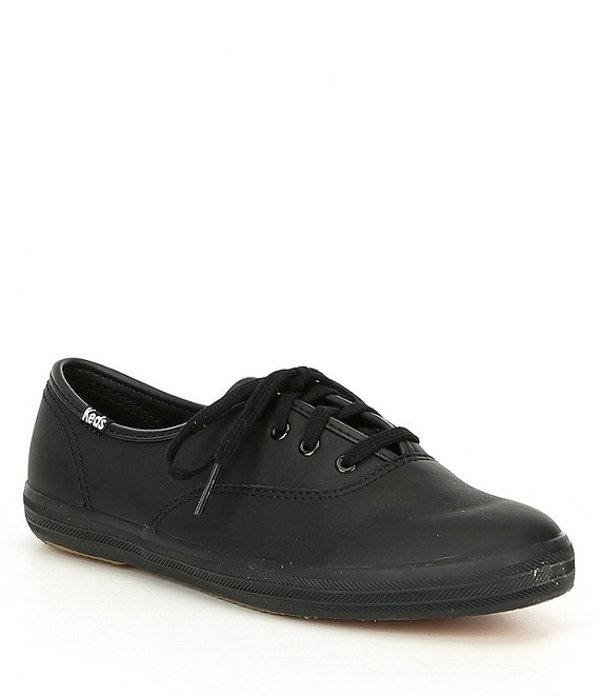 ケッズ レディース ドレスシューズ シューズ Women's Champion Leather Sneakers Black