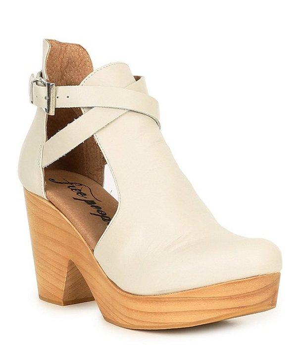 フリーピープル レディース ブーツ・レインブーツ シューズ Cedar Leather Buckle Wood Clogs White
